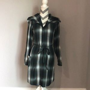 Horny Toad Flannel Button Down Dress
